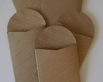 50 x mini kraft paper bags seed packets envelopes,gift favor confetti, party wedding 2.36 x 3.5in  6cm x 8.89 cm mini bags