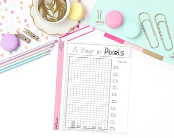 BUJO: Year in Pixels - Pain Tracking LARGE Sticker