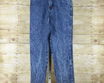Vintage Jeans Blue Acid Wash High Waist Women's 8 S Stefano, Mom Jeans