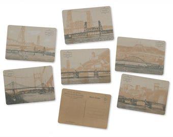 Portland, Oregon Bridge Postcard Series - Set of 6 Cards -- ON SALE!!