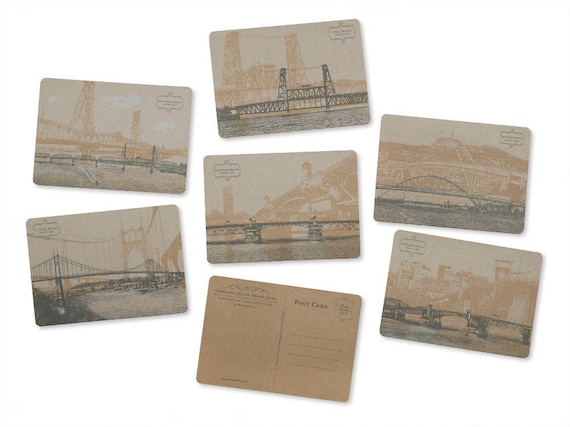 ON SALE!! -- Portland, Oregon Bridge Postcard Series - Set of 6 Cards
