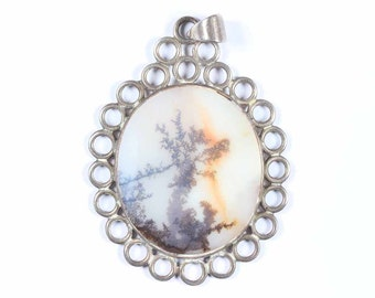 Antique Silver pendant from the Banda River in India
