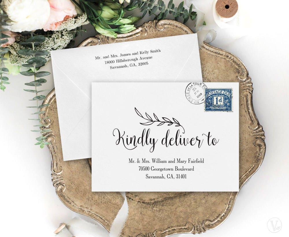 wedding envelopes diy wedding envelope addressing template