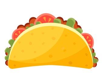 Taco, Tacos, SVG,Graphics,Illustration,Vector,Logo,Digital,Clipart