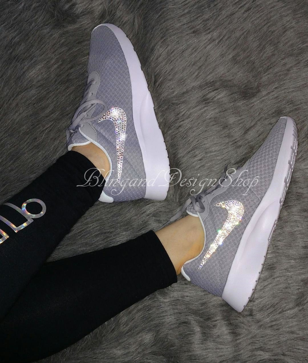 Swarovski Bling Nike Tanjun Women's Nike Shoes Customized with Crystal  Swarovski Rhinestones, Sneakers, Tennis Shoes