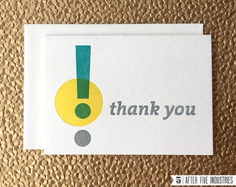 Thank You! — Letterpress Greeting Card