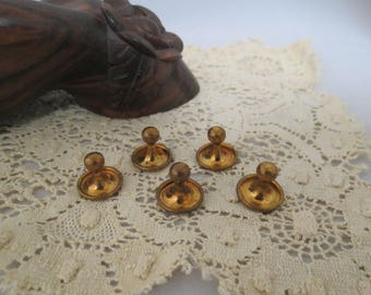 Antique Edwardian Shirt Studs Gold Plated Formal Dress Wear Lot 5