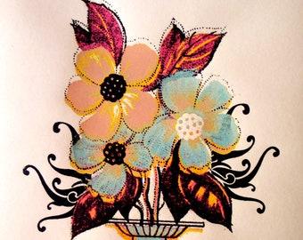 Miss Amy Jo Art Print: Flowerpop, 2007