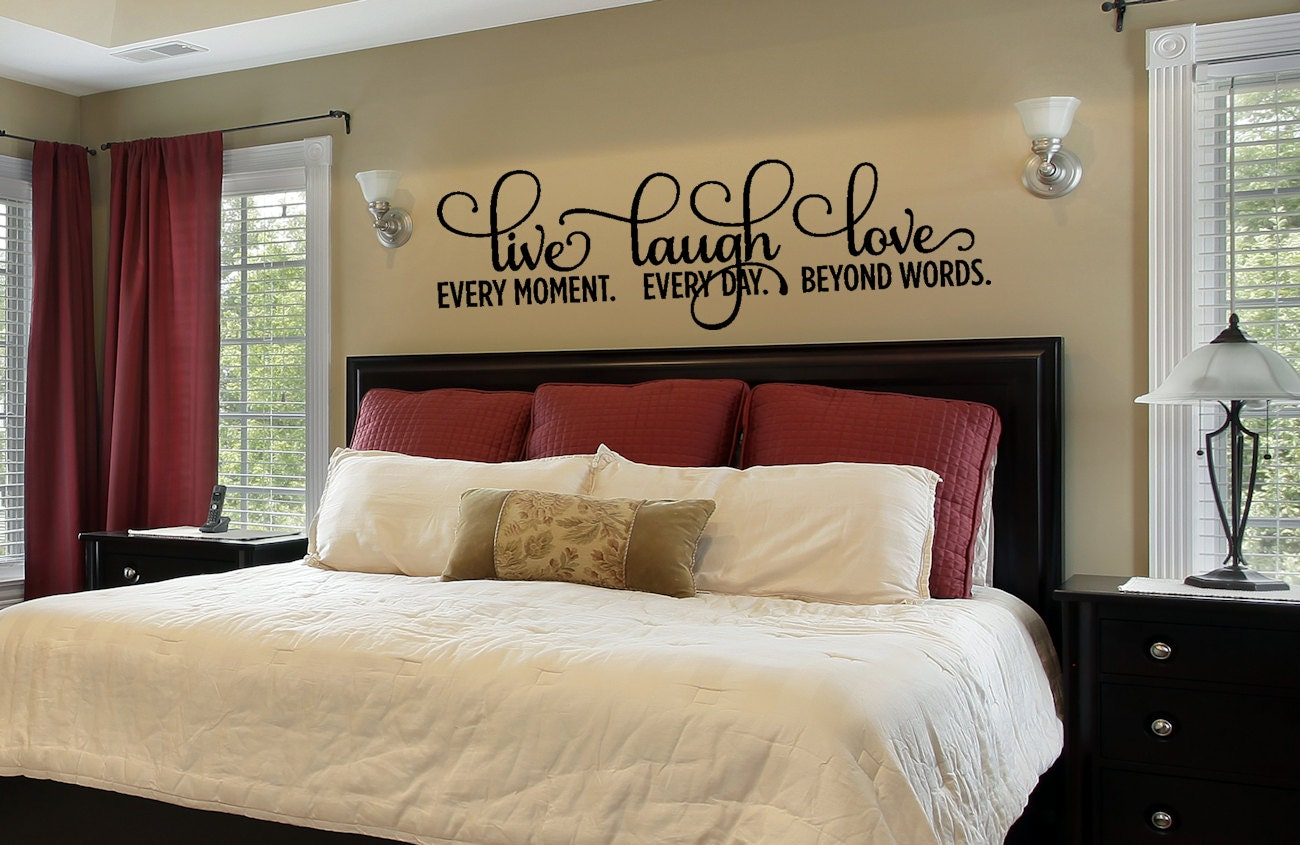 Wall Colour Inspiration: Bedroom Decor Bedroom Wall Decal Live Laugh Love Decal