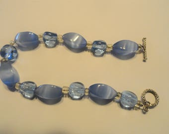 Light Blue Glass Bracelet