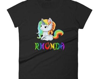 Rhonda Unicorn Ladies T-Shirt
