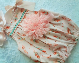 Newborn Baby Girls' Pink Romper set Take Me home outfit