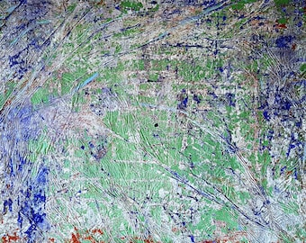 NOT AVAILABLE !!! - From grass to sky (n.249) - 80 x 70 x 2,50 cm - ready to hang - acrylic painting on stretched canvas