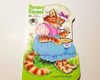 Nursery Rhymes A Golden Sturdy Shape Book with pictures by Lilian Obligado