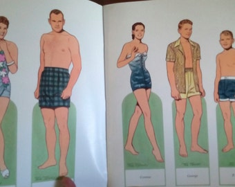Sale-1994 Tom Tierney American Family of the 50s Paper Dolls