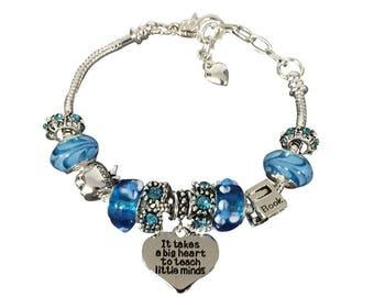 Teacher Gift -Teacher Bracelet –Teach Gift - Teaching - Perfect for Teacher Appreciation and Teacher Gifts