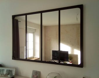 Mirror style industrial canopy 120 x 80 cm