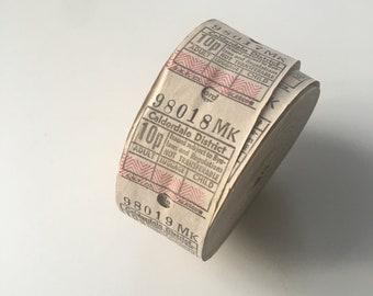 Vintage 20 bus tickets