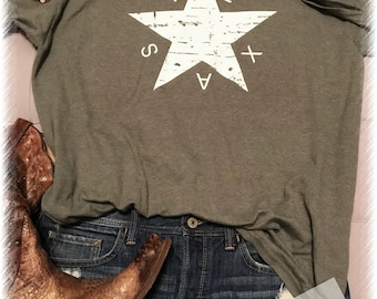 Distressed Texas t shirt