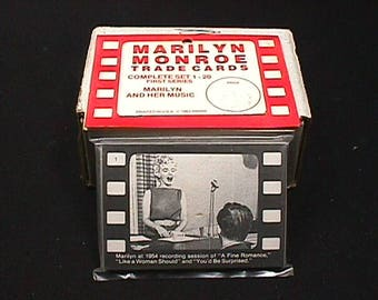 Vintage a 1963 Complete Sealed set of Marilyn Monroe Trade Cards The First Series