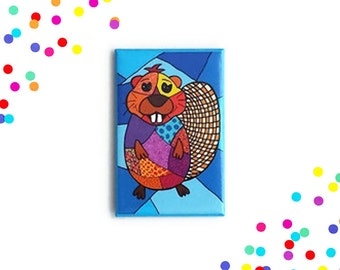 Beaver magnet, fridge magnet, magnet, magnets, refrigerator magnet, button magnet, kitchen decor, kitchen decoration, beaver lover