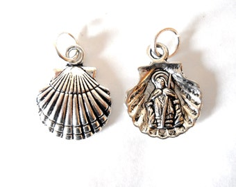 Camino de Santiago Scallop Shell Saint St James Necklace / Pendant