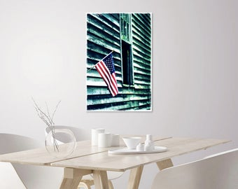 American Flag Wall Art Print | Americana Decor Art | American Flag Wall Art Decor | American Flag Photograph on Canvas on Paper | Flag Photo