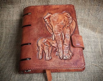 Hand tooled leather journal