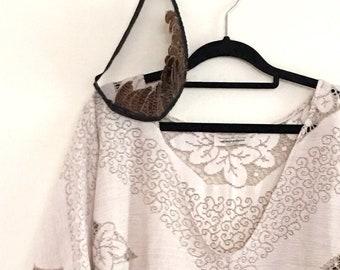 Women's Cotton Lace Blouse.Size 10-14.
