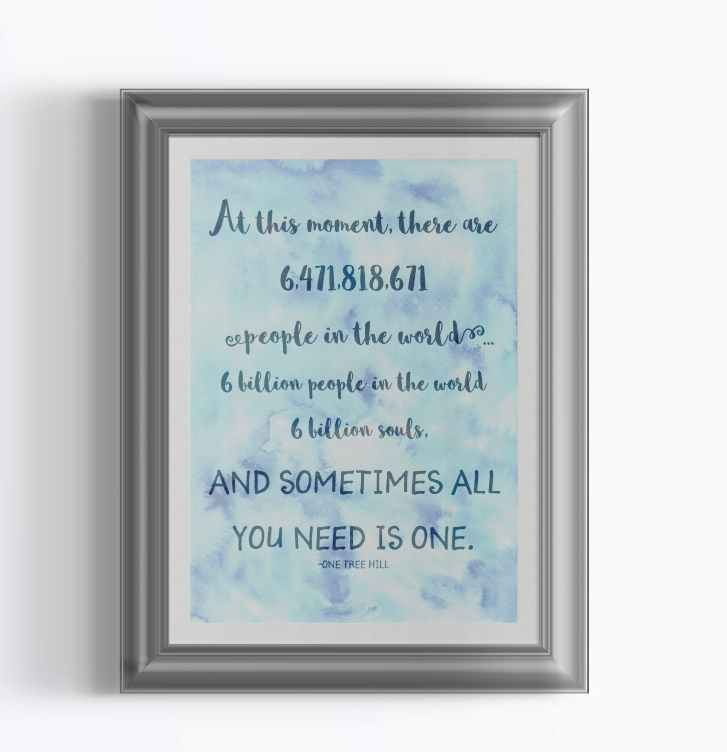 ?agrandir  sc 1 st  Etsy & One Tree Hill/One Tree Hill Quote/OTH Quote/Wall Art