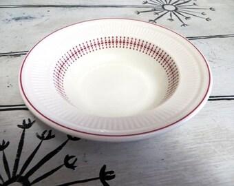 Anchor Hocking Fruit Bowl Red and White Bowl Small Bowl Red Kitchen Shenango China Restaurantware Candy Dish Trinket Dish Kitchen Bowl