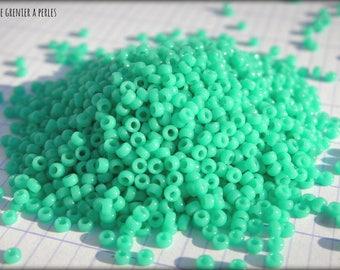 Seed beads MIYUKI 15/0 Turquoise Green Opaque (0412)