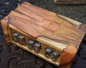 409-pistachio wood nixie tube clock/ calendar- made to order