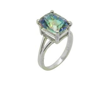 Magic Blue Quartz Sterling Silver Ring