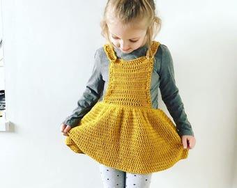 Crochet Girls Pinafore Dress