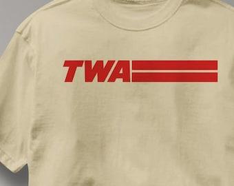 TWA T Shirt Airlines Aviation Tee Shirt Mens Womens Ladies Youth Kids