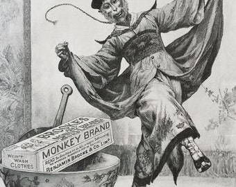 Monkey Brand Soap Original 1898 Ad - Good For China! Wei-Hai-Wei.