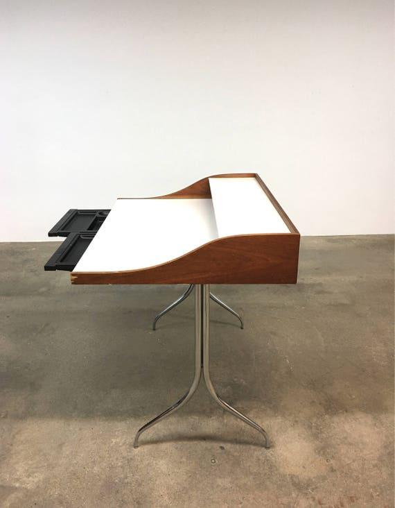 george nelson vintage swag leg desk herman miller mid century - Herman Miller Schreibtischtisch