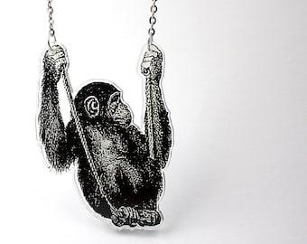 Acrylic Necklace CHIMP Finart-Jewellery