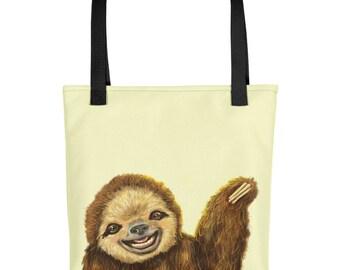 Happy Sloth Tote bag