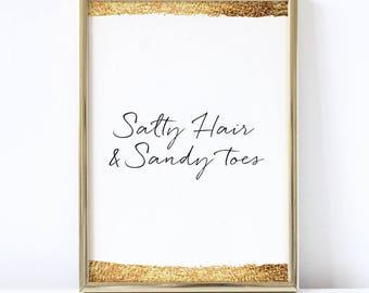 Salty Hair & Sandy Toes Print