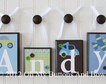 Baby Name Blocks . ROUTED EDGE . Nursery Name Blocks . Nursery Decor . Name Blocks . Wood Name Blocks . Bedding . Transportation . Andy