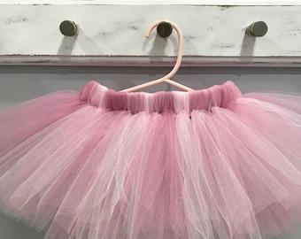 Pink Boho Tutu - Rose Mauve Pink Tutu - Birthday Party Tutu - Cake Smash Tutu - Photo Shoot Prop Tutu - Baby Shower Gift Tutu