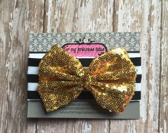 Black and white with gold bow baby knot headband, baby knot headband, jersey knit headband, top knot headband, toddler knot headband