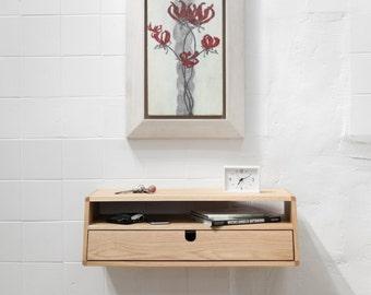 Walnut / oak wood  Floating  Console Hallway table entryway