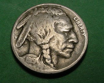 1919 Buffalo Nickel Very Good / Fine / Coin you see is Coin you get,  Insurance included in SH  <>ET7107