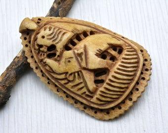 Bone Pendant ,  carved bone pendant ,  jewelry Supply , bone jewelry , boho Pendant