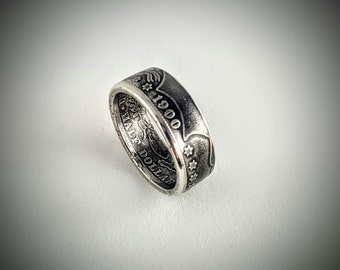 SALE!!! Barber Silver Half Dollar Coin Ring