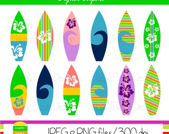 Surfboard Clip Art-Surfing Clipart-Beach Clip Art-Surf Clip Art-Digital Clipart-Digital Images-Digital Graphics-Surf Images-Instant Download