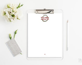 Christmas letter stationery Christmas wreath stationery Merry Christmas letterhead Holiday letterhead Instant Download Microsoft Word PDF